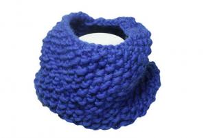 snood tricoté avec aiguilles circulaires
